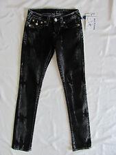 True Religion Slim Straight Jeans with Flaps - Mudslide/Black -Size 25- NWT $244
