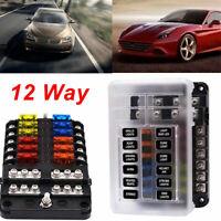 12 Way Blade Fuse Auto Block Box Holder Indicator ATC ATO 12V Circuit Car Boat