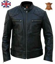 David Beckham uomo in vera pelle trapuntata Top Fashion Giacca//Cappotto #538