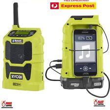 Ryobi ONE+ BLUETOOTH RADIO 18V Wireless, USB Charger save 10 FM and 10AM Station
