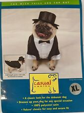 Casual Canine Tux with Tails & Top Hat Pet Costume XL Labrador/Shepherd/Doberman