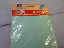 Blank Card and Envelope Pack C5 Blue Birthday Xmas Cardmaking White