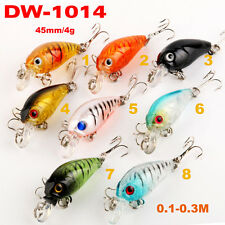 9x PFS Mini Hardbody Crankbaits Shallow Diving Fishing Lures Bream Bass 35mm 3g