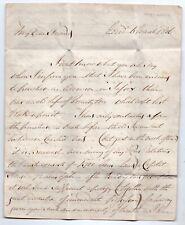 More details for georgian document dated 1806 london - banbury regarding debts financial matters