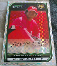 JOHNNY CUETO 2008 Bowman Chrome XFractor SP Rookie Card RC 47/250 Jersey # HOT