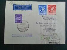 Nederlands  Indie 372/373 op brief met 1e dagstempel Batavia - Nijmegen