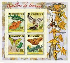 Burundi 2014 MNH Butterflies & Caterpillars 4v Deluxe M/S II Insects Papillons