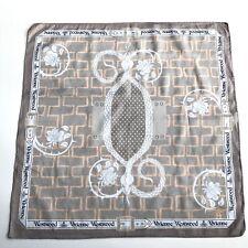 Vivienne Westwood Cotton Square/Scarf/Handkerchief/Bandana Gray