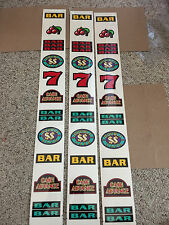 IGT Used S-Plus slot machine - DOUBLE CASH  -  REEL STRIPS