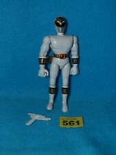 "Power Rangers Mighty Morphin Ranger Original 8"" Blanca + pistola"