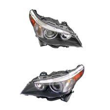 BMW E60 Front Left And Right Headlight Assembly Bi-Xenon Adaptive Hella