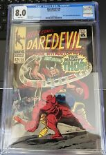 1967 Marvel Here Comes Daredevil #30 CGC 8.0 White Pages Stan Lee Thor Cobra