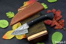 Damascus Steel Skinning Hunting Knife Handmade With G-10 Micarta Handle (D290-I)