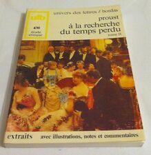 A la recherche du temps perdu, volume 2 Par Marcel Proust