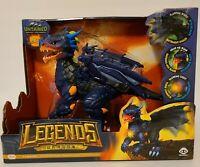 WowWee 3956 Untamed Legends Dragon - Vulcan Interactive Toy - Dark Blue