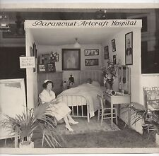 "Large 1930s Photo Paramount Studios Artcraft Hospital Mock Set "" Sick A Bed """