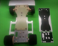 ASSOCIATED RC300 Chassis plate protector skin BLACK CARBON FIBER look 1/8
