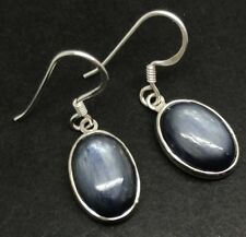 Kyanite oval solid Sterling Silver drop earrings, new, actual ones, UK only.