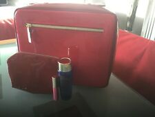 Estée Lauder Red faux patent leather Vanity set with freebies brand new