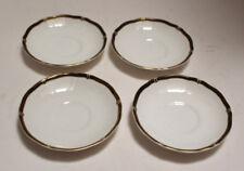 Wedgwood Bone China Saucers  WINDSOR BLACK copyright 1989 Set of 4 saucers lot