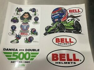 Danica Patrick Go Daddy / Bell / Double Duty Decals Indy 500/Daytona 500 $11.55