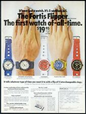 1969 Fortis Flipper Swiss watch 5 models photo vintage print ad