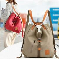 Ladies Canvas Shoulder Tote Bag Backpack Multi-Handbag Rucksack Women Designer