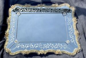 Vintage Authentic Venetian Wall Mirror Murano glass Italian