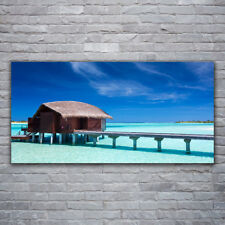 Canvas print Wall art on 120x60 Image Picture South Sea Beach House Architecture