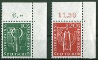 Bund 217 - 218 Eckrand sauber postfrisch BRD ER Ecke 2 WESTROPA 1955 Düsseldorf