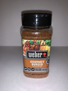 Weber Gourmet Burger Seasoning Hamburger Gluten Free 8 OZ Ounce 227 g NIP New