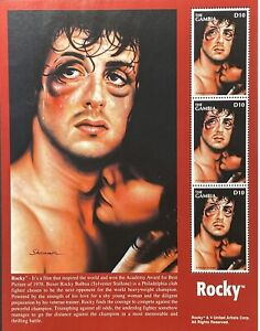 GAMBIA ROCKY SYLVESTER STALLONE STAMPS SHEET 1996 MNH BOXER MOVIE STAR FIGHTER