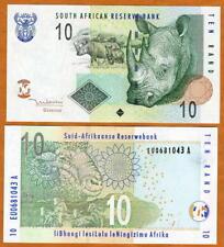 South Africa, 10 rand, ND (2005), P-128a UNC > Rhino Rand