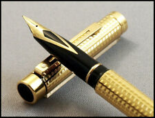 RARE VINTAGE SHEAFFER TARGA IMPERIAL 1084 VANNERIE CLASSIC GOLD PLATED 18 K NIB