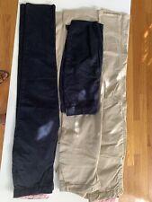 Lot of 4 Chaps/ Gap Girls school uniform Khaki pants adjustable waist Size 14-16