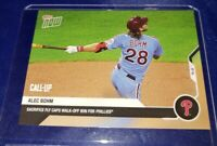 ALEC BOHM MLB TOPPS NOW 207 CALL-UP 9.3 IN HAND ONLY 590 MADE 09/03/2020 WALKOFF