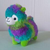 "Peek-A-Boo Multi Color Green Purple Plush Lamb Sheep Soft Stuffed Animal 7"""