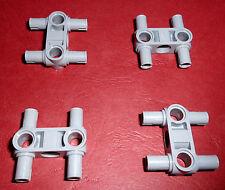 Lego Technic (48989) 4 conectores con 4 Pinne, en gris claro de 8258 8053 8547 8292