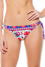 NEW Nanette Lepore Antigua Charmer Embroidery Tie Sides Bikini Bottoms S Small