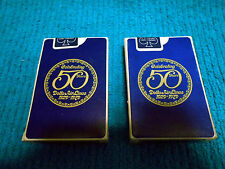 2 VTG Decks Aviation Playing Cards Delta Airlines 1979 Celebrating 50 years Blue