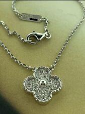 Van Cleef & Arpels Vintage Alhambra 18K WG Diamond Pendant.