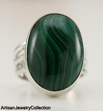 Size 7.25 Ring MALACHITE 925 STERLING SILVER ARTISAN JEWELRY COLLECTION R562A