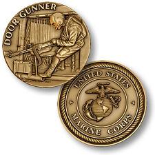 USMC Door Gunner Challenge Coin Helicopter Machine Gun Veteran Vet Marine Corps