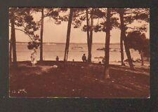 CAP FERRET (33) BATEAUX au BASSIN animé en 1937