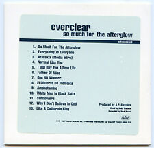 EVERCLEAR So Much For The Afterglow advance promo 1997 CD Art Alexakis 13 Tracks