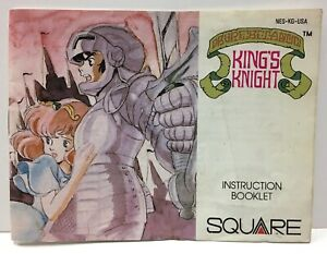 King's Knight Instruction Booklet Manual Only Nintendo NES NTSC By Square Kings