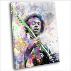 Jimi Hendrix Abstract Canvas Print Framed Iconic Music Wall Art Picture