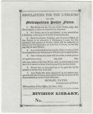 1847 London Metropolitan Police Force Department Bookplate