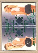 Sara Underwood 2012 Bench Warmer Daizy Dukez Kara Monaco Swatch Auto Green 9/10