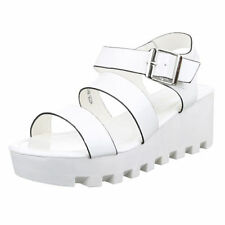 Plateau Damen-Sandalen & -Badeschuhe aus Kunstleder für die Freizeit